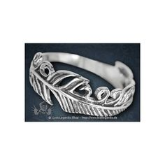Ring Vogelfeder Silber Gothic ❤ liked on Polyvore featuring jewelry, rings, goth jewelry, gothic jewelry, goth rings, gothic jewellery and gothic rings
