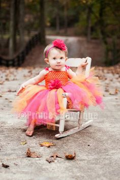 I want this for V's one year photo shoot! Lush Orange and Hot Pink Baby Toddler Tutu Dress: Baby Headbands & Hair Bows at Princess Bowtique Baby Blue Prom Dresses, Princess Tutu Dresses, Baby Tutu Dresses, Tutu Outfits, Long Dresses, Toddler Skirt, Toddler Tutu, Toddler Outfits, Infant Toddler