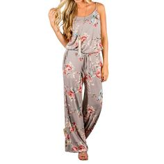 New Kawaii Floral Jumpsuit Fashion Women Spaghetti Strap Long Playsuits Casual Beach Long Pants Jumpsuits Overalls Pockets GV736 //Price: $23.38 & FREE Shipping //     #women #fashion #babies #love #shopping #follow #instashop #onlineshopping #instashopping #shoppingday #shoppingtime #instagood #photooftheday #happy #cute #followme #tagsforlikes #instagram #bestoftheday