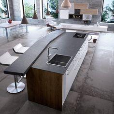 form 1 // black oak kitchen with gaggenau elements by multiform ... - Kochinsel Weiss Oder Dunkel