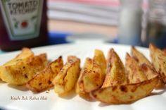Seasoned Potato Wedges, Seasoned Potatoes, Low Carb Recipes, New Recipes, Cooking Recipes, Potato Recipes, Yummy Recipes, Vegetarian Cooking