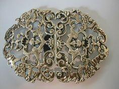 Rare Solid Silver 1899 ENGLISH Nurses Buckle.......