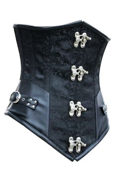 The Violet Vixen - Victorian Revolution Underbust Black-Silver Corset, $107.10 (http://thevioletvixen.com/corsets/victorian-revolution-underbust/)