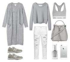 """Cozy Sunday"" by fashionlandscape ❤ liked on Polyvore featuring Monki, Topshop, New Balance, Acne Studios, Leighton Denny and Calvin Klein Underwear"