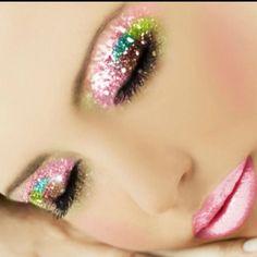 Pretty pink glitter make-up xx