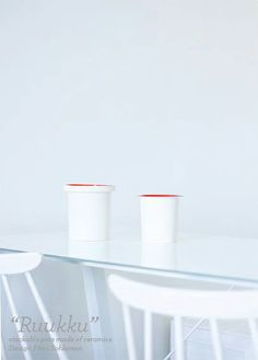"""Ruukku""- stackable pots made of ceramics, Design Päivi Sohkanen"