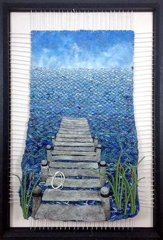 Dimensional Weaving – Martina Celerin fiber art: Weaving an Exhibition! Dimensional Weaving – Martina Celerin fiber art: Weaving an Exhibition! Weaving Wall Hanging, Weaving Art, Weaving Patterns, Loom Weaving, Tapestry Weaving, Hand Weaving, Yarn Crafts, Felt Crafts, Textile Fiber Art