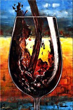 Virtual Wine Bar: Ambiance ~ Featured Artist Leanne Laine