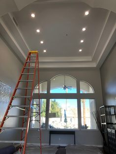 Install LED 6-inch recessed in tray ceiling, each light is 1050 lumens