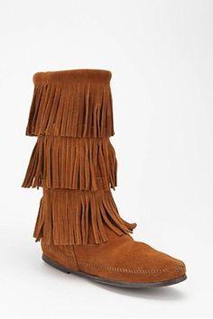 Minnetonka Triple Fringe Boot