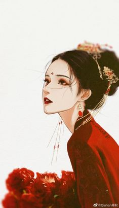 Chinese Drawings, Chinese Art, Art Drawings, Character Illustration, Illustration Art, Anime Eyes, Beautiful Anime Girl, Anime Art Girl, Aesthetic Art