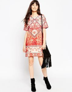 1cd9e22d58b ASOS TALL Tile Print T-Shirt Dress at asos.com