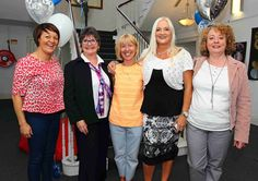 Deirdre Collins, Theresa Greene, Breda Ryan, Jo Cregan and Carmel Grant pictured at the Garter Lane Arts Centre 30th Birthday Party www.noelbrownephotographer.com — with Theresa Greene and Carmel Grant at Garter Lane Arts Centre.