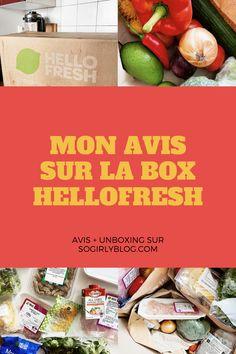 Retrouvez vite mon avis ainsi qu'un unboxing de la box culinaire HelloFresh sur mon blog ! So Girly Blog, Healthy, Greedy People, Recipes, Kitchens