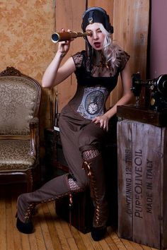 Steampunk Tweed Cincher Corset  By: Victoria Wilson Corsets    http://www.victoriawilsoncorsets.com/  http://www.etsy.com/shop/VWCorsets?ref=seller_info  Photography By: SPCphotography