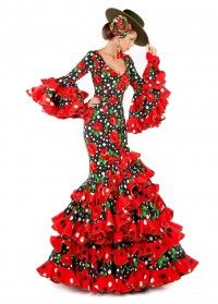 vestido flamenco modelo CORDOBA Flamenco Party, Flamenco Dancers, Flamenco Dresses, Spanish Dress, Beautiful Red Dresses, Spanish Fashion, Dance Outfits, Dance Costumes, Traditional Dresses
