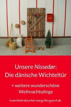 The Nissedør: Our danish gothic door (+ raffle) Winter Christmas, Christmas Crafts, Xmas, Fairy Doors, Diy Weihnachten, Elf On The Shelf, Inspiration, Decor, Baby