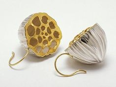 seed pod earrings by Pura Ferreiro