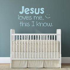 Jesus Loves Me vinyl decal children's wall art by OffTheWallExpression, $17.00