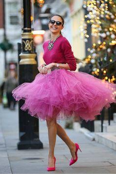 New Arrival Skirt, Street Style Skirt,Tulle Skirt,Fashion Women Skirt,Spring Autumn Skirt Street Style Rock, Tutu Skirt Women, Tutu Skirts, Tutu Women, Pink Tulle Skirt, Pink Tutu Dress, Lace Skirt, Paris Chic, Moda Chic