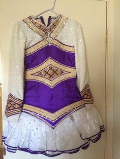 Amazing Purple Michelle Lewis Irish Dance Dress Solo Costume For Sale