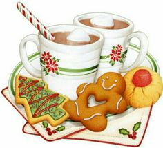 CHRISTMAS GINGERBREAD AND COCOA *