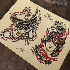 Old School Inspiration Body Art Tattoos, Tattoo Drawings, Tatoos, Vintage Tattoo Art, Traditional Tattoo Design, Traditional Tattoo Flash, Classic Tattoo, Flash Art, American Traditional