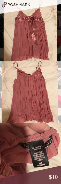 """NEW Victoria's Secret """"Very Sexy Pleated Babydoll"""" Victoria's Secret babydoll lingerie. Size LARGE. Never worn, brand new. I ordered a bunch of stuff online and it all came in size Large! It's a rose color. Comes with a matching thong!!!     ***if you are wanting to order some of the Victoria secret stuff in my other listings or if you don't want all 3 in this picture etc. I can send you whatever you want as one order just let me know! Victoria's Secret Intimates & Sleepwear"""
