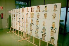 Retrats de 100 persones que viuen i/o treballen a la Barceloneta. Projecte de Carolina Anton. Exposició a la Fàbrica del sol, al 2012.