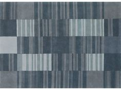 Wool rug with geometric shapes STREETS by NOW CARPETS | design Michael Banks