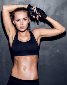 Health & Fitness Photographer Model Posing Athletic Wear