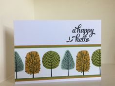 Totally Trees stamp set from the new Autumn-Winter catalogue - created by Julia Jordan