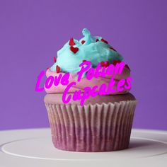 Magic ingredient love cakes. Disclaimer: No actual love potion was used in the making of this cupcake.
