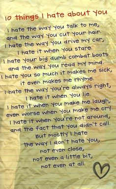 10 things I Hate About You :)  Definitely my favorite movie