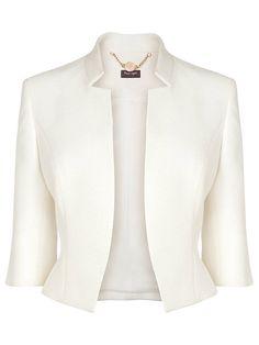 Buy Cream Phase Eight Valentine Jacket from our Women's Coats & Jackets range at John Lewis & Partners. Blazer Jackets For Women, Blazers For Women, Coats For Women, Clothes For Women, Women's Jackets, Outerwear Jackets, Office Fashion, Work Fashion, Fashion Design