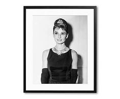 Ingelijste foto Audrey 1960, 40 x 50 cm