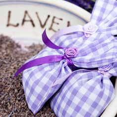Three small lavender bags