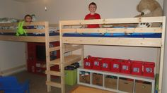 Double Twin Camp Loft Bed I made for my boys.