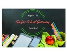 Enter to Win the Set for School Giveaway! | Love Kissed Books