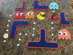 Ms. Pac-Man perler beads.