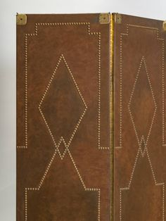 Leather and Brass Nail Head Screen image 3