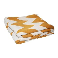 I pinned this Zigzag Throw in Ochre from the Happy Habitat event at Joss and Main!