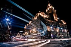 The Balmoral at Night - 12 x 18 Fine Art Print - Ready for Framing
