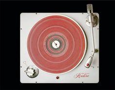 "Rek-O-Kut ""Rondine"" Turntable, circa 1957 (via Todd Eberle)"