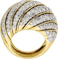 Estate Jewelry:Rings, Diamond, Platinum, Gold Ring. ...  #TuscanyAgriturismoGiratola