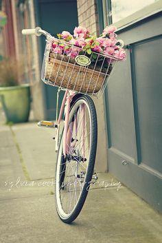 vintage pink bike | Flickr - Photo Sharing! | We Heart It