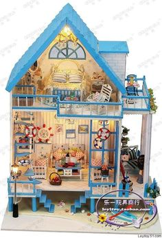 """This is awesome... Lighted Beach Dollhouse  """"The East Coast of Bali"""""""