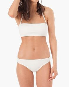 7742776e44898 LIVELY™ Bandeau Bikini Top in White White Bandeau