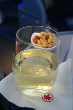 Let's have some Champagne - Air Canada Business Class