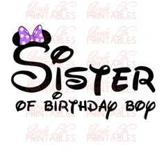 Disney+Iron+On+Transfer++Sister+Of+by+BrightLifePrintables+on+Etsy,+$4.50